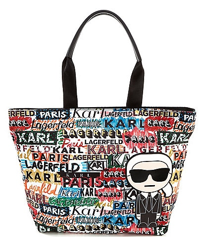 KARL LAGERFELD PARIS Amour North South Nylon Tote Bag