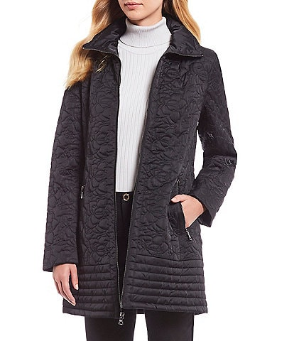 KARL LAGERFELD PARIS Camila Long Quilted Coat