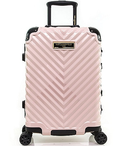KARL LAGERFELD PARIS Chevron 20#double; International Carry-on Hardside Spinner