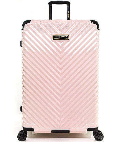 KARL LAGERFELD PARIS Chevron 28#double; Hardside Spinner