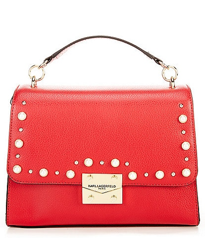 KARL LAGERFELD PARIS Corinne Pearl Top Handle Shoulder Bag