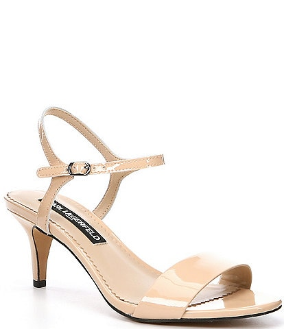 KARL LAGERFELD PARIS Demas Patent Leather Dress Sandals
