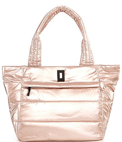 KARL LAGERFELD PARIS Frankie Nylon Top Zip Tote Bag