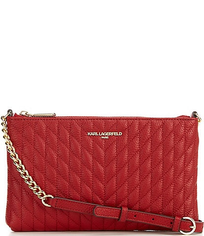 KARL LAGERFELD PARIS Karolina Quilted Crossbody Bag