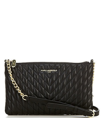KARL LAGERFELD PARIS Karolina Quilted Leather Crossbody Bag