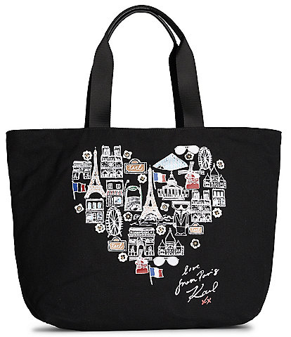 KARL LAGERFELD PARIS Kristen Canvas Tote Bag