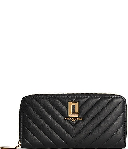 KARL LAGERFELD PARIS Lafayette Quilted Leather Continental Wallet