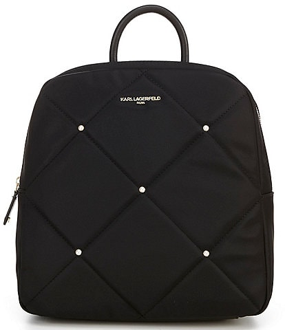 KARL LAGERFELD PARIS Quincy Nylon Studded Backpack