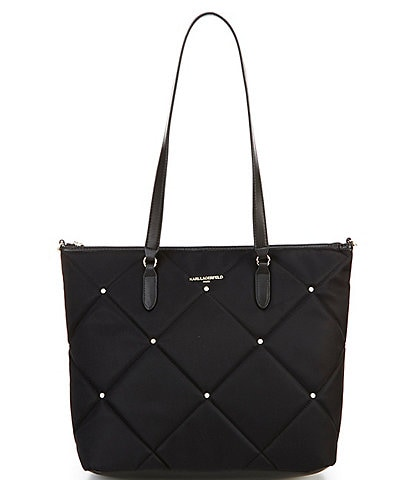 KARL LAGERFELD PARIS Quincy Nylon Studded Tote Bag