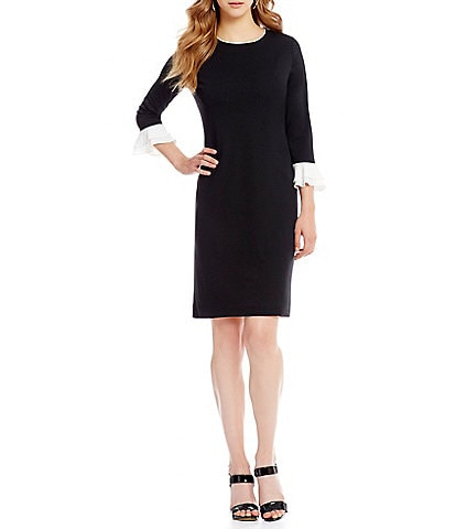 KARL LAGERFELD PARIS Trumpet Sleeve Dress