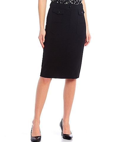 KARL LAGERFELD PARIS Utility Cool Compression Pocket Pencil Skirt