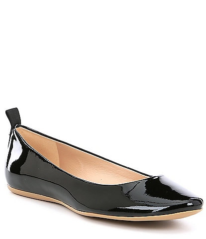 KARL LAGERFELD PARIS Vada Patent Leather Ballerina Flats