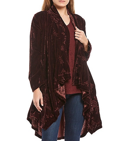 Karyn Seo Elsa Waterfall Tonal Embroidery Velvet Jacket