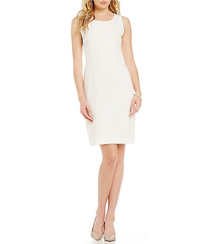 Kasper Crepe Empire Sheath Dress