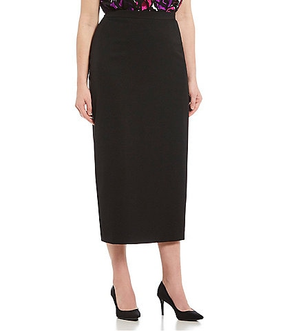 Kasper Plus Crepe Column Skirt