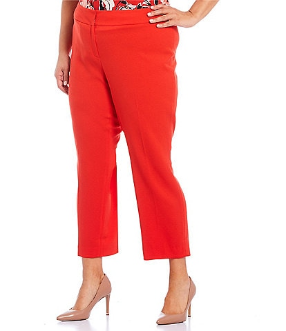 Kasper Plus Size Cropped Slim Pant