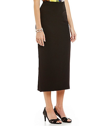 Kasper Stretch Crepe Column Midi Skirt