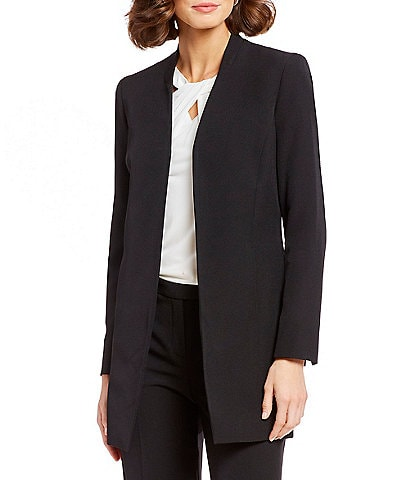 Kasper Stretch Crepe Open-Front Topper Jacket