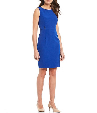 Kasper Stretch Crepe Sleeveless Sheath Dress