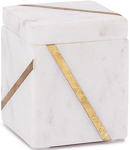 Kassatex Marble Brass Cotton Jar