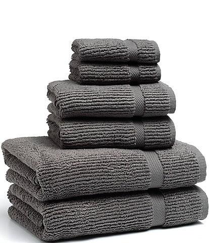 Kassatex Mateo Ribbed Zero-Twist Bath Towels