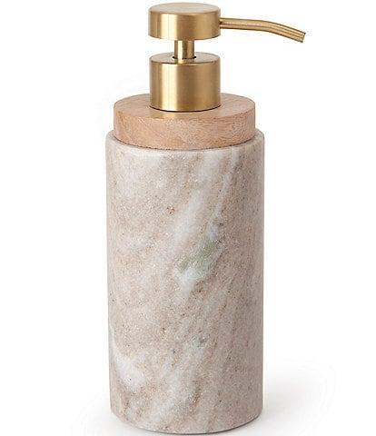 Kassatex San Marino Marble & Mango Wood Lotion/Soap Dispenser