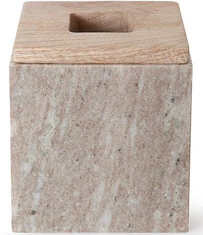 Kassatex San Marino Marble & Mango Wood Tissue Box Cover