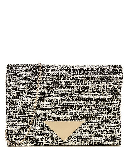 Kate Landry Boucle Envelope Flap Crossbody Bag