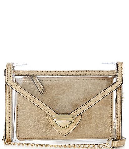Kate Landry Clear Envelope Crossbody Bag