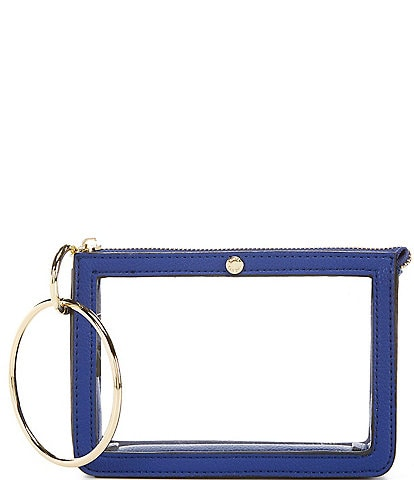 Kate Landry Clear Ring Handle Wristlet