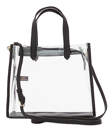 Kate Landry Clear Stadium Top Handle Satchel Bag