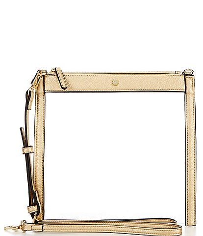Kate Landry Clear Top Zip Crossbody Bag