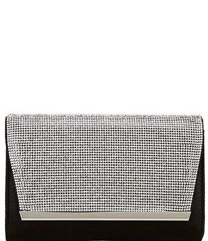 Kate Landry Crystal Flap Snap Clutch Bag