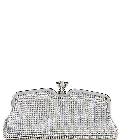 Kate Landry Crystal Mesh Frame Clutch