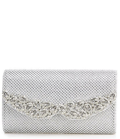 Kate Landry Crystal Mesh Rhinestone Collar Clutch Bag