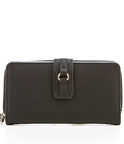 Kate Landry D-Ring RFID Zip-Around Wallet with Checkbook