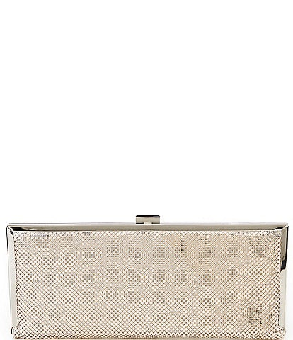 Kate Landry Elongated Metal Mesh Frame Clutch