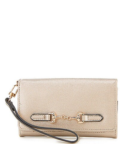 Kate Landry Horsebit Snap Cell Wristlet