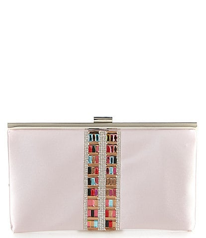 Kate Landry Jewel Center Frame Clutch