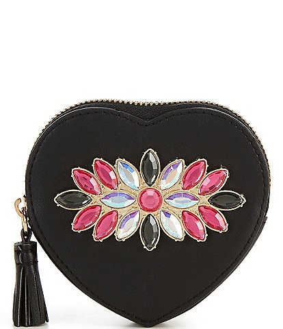 Kate Landry Jewel Heart Pouch