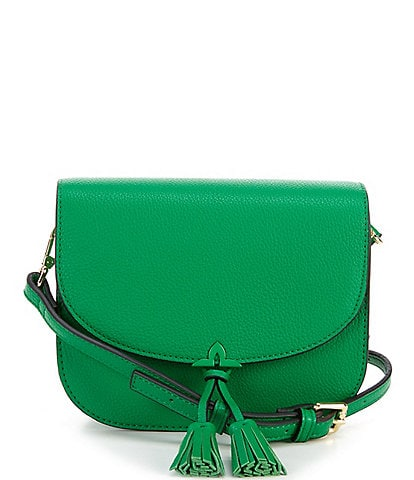 Kate Landry Kennon Tasseled Flap Crossbody Bag