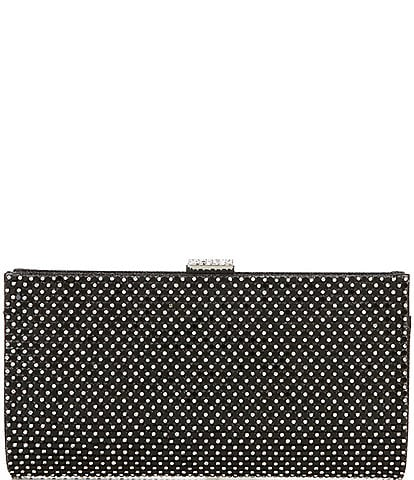 Kate Landry Mesh and Crystal Mix Frame Clutch