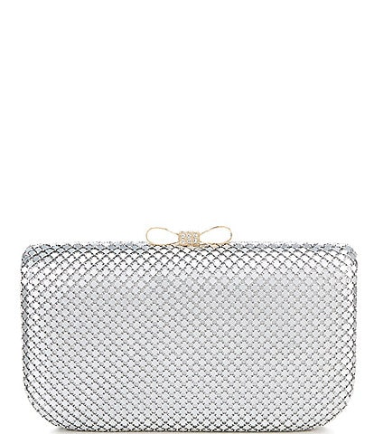 Kate Landry Metal Mesh Bow Top Minaudiere