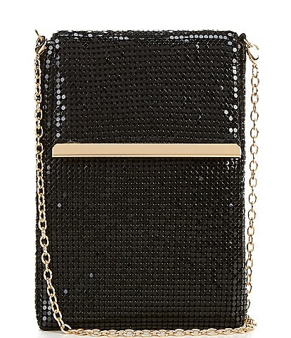 Gianni Bini North South Metal Mesh Crossbody Bag