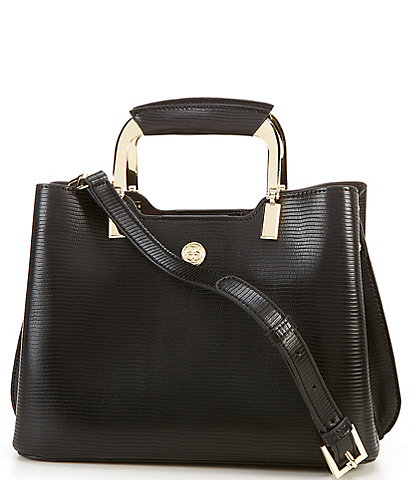 Kate Landry Reese Exotic Top Zip Satchel Bag