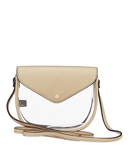 Kate Landry Saddle Clear Stadium Crossbody Bag