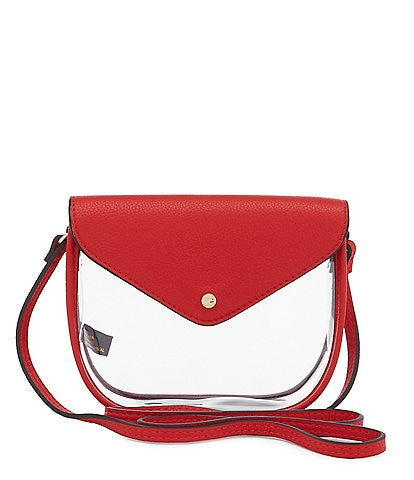 Kate Landry Saddle Clear Stadium Crossbody