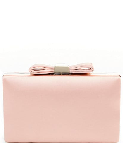 Kate Landry Satin Bow Top Minaudiere Bag