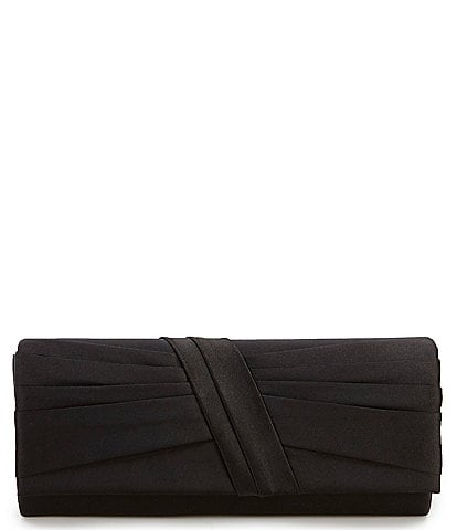 Kate Landry Satin Diagonal Bow Clutch
