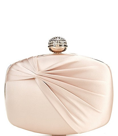 Kate Landry Satin Ruched Minaudiere